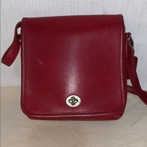 Vintage Coach Red Small Crossbody Bag #9076
